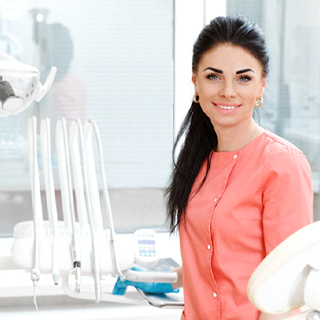 A smiling dental professional