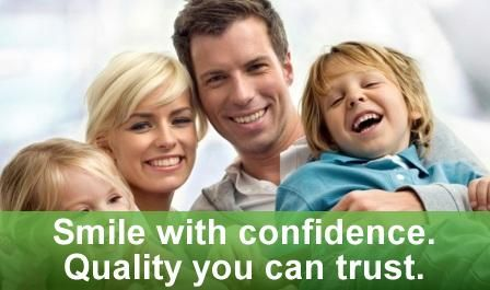 picture of happy family who enjoy having nice healthy teeth